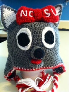 Keep your ears warm at wolfpack games this fall with a Ms. Wuf knit cap. Then share the warmth by voting for her in the #MascotChallenge on www.capitalonebowl.com or tweeting #CapitalOneMsWuf.