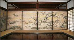 """Daitokuji superior de la columna 聚光 entre Noriyuki en el Consejo Nacional del tesoro """"cámara de flores y los pájaros vistas"""""""