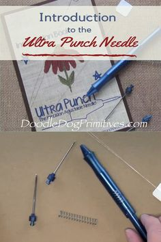 New to Punch Needle? Learn how to change the Ultra Punch needle tip, change the punching depth, and thread the needle. Hook Punch, Punch Needle Patterns, Penny Rugs, Embroidery For Beginners, Linocut Prints, Rug Hooking, String Art, Sewing Hacks, Helpful Hints