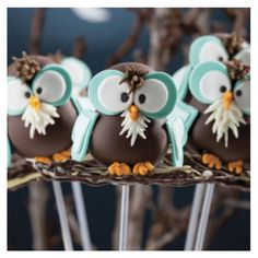 OWLS :) awesome popcakes