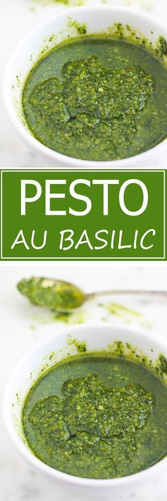 The recipe for traditional basil pesto (or pesto alla genovese). A very fragrant cold sauce, full of flavors and simplissime. A treat with pasta, vegetables or grilled meats. I also give you ideas for making pesto variants as well as other ideas for use. Sauce Recipes, Meat Recipes, Healthy Recipes, Spinach Puff Pastry, Cream Cheese Pasta, Homemade Ramen, Homemade Pesto, Best Pasta Salad, How To Cook Meatballs