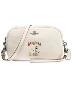 0307480202c COACH Peanuts  Crossbody Clutch in Refined Natural Pebble Leather with  Snoopy