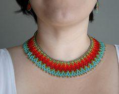 Peyote Beaded Mexican Multicolor V-shape Petals by LucianaLavin