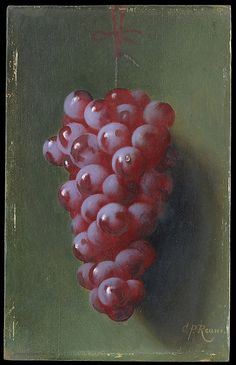Still Life with Grapes, Carducius Plantagenet Ream  (1838–1917),     Oil on canvas. The Metropolitan Museum of Art, NY.