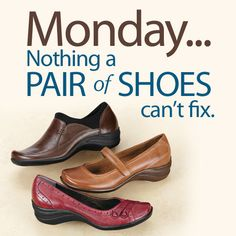 Brighten your Monday by shopping at FootSmart for your next pair of shoes.