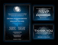 Star Trek Wedding Invitation Boarding Pass And Rsvp