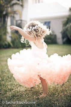 Kayden will be a little ballerina, she loves her some tutu's