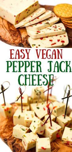 A perfectly rich, creamy, and spicy vegan pepper jack cheese.  A simple cheese recipe that's easy to whip up in about 10 minutes. Slice it and serve it on crackers or add it to a vegan cheeseboard.  Melt it over corn chips to make unbelievable vegan nachos or use it in quesadillas or for a spicy grilled cheese.