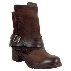 Miz Mooz Sargent Women's Motorcycle Boot - Available Colors: Black, Charcoal, Chocolate, Wine