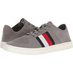 Tommy Hilfiger Archer 2 (Grey) Men's Shoes ($40) ❤ liked on Polyvore featuring men's fashion, men's shoes, men's sneakers, grey, mens grey shoes, mens gray shoes, mens shoes, mens lace up shoes and mens grey sneakers