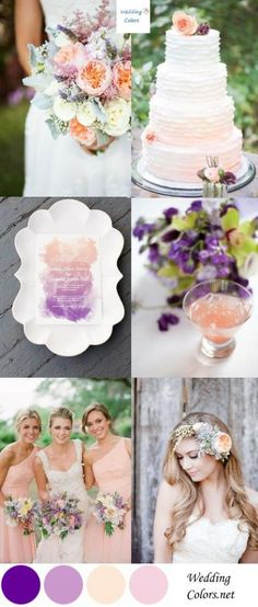 Wedding Color Inspiration| Lavender, Violet & Peach #PurpleWedding #Wedding #Peach