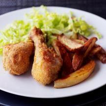 entulinea.es: Receta entulínea - Muslos de pollo y patatas fritas