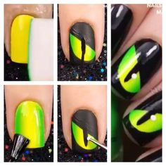 Awesome nails for halloween! Give it a try! Self explained!