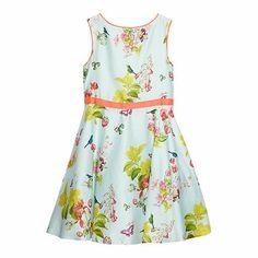 For flower girls - Baker by Ted Baker Girl's pale green floral dress
