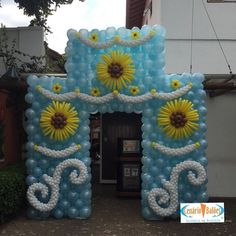 Beautiful Entrance To A Disney Frozen Fever Birthday Party