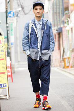 일본 스트리트 패션 - 도쿄 하라주쿠 남자들의 유니크한 패션 코디 Boy Fashion, Fashion News, Mens Fashion, Street Fashion, Streetwear, Tokyo Street Style, Gentleman Style, Asian Style, Mens Suits