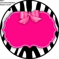Riding my party: Zebra Pink and Black Zebra Rosa, Pink Zebra, Printable Labels, Party Printables, Zebra Party, Cake Logo, Barbie Party, Borders And Frames, Ideas Para Fiestas