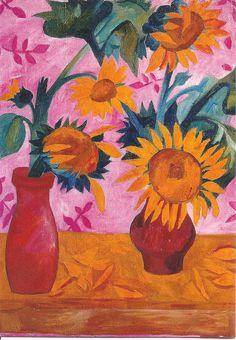 natalia goncharova paintings | Natalia Goncharova, Sunflowers (1908,1909 | Flickr - Photo Sharing!