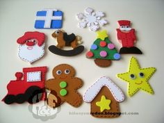 Hilos y enredos: Pack de adornos navideños con goma eva