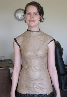 Making It Well: I Made My Own Dress Form!  This tutorial was very well explained. I'm definitely doing this soon! Going to use a t-shirt instead of a trash bag though- much more comfortable. Awesome!