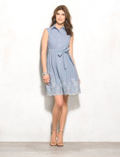 This sweet daytime dress will score you major style points this season. Wear it to brunch or a weekend shower. Imported.