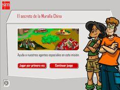 Las aventuras interactivas de S.M. repasan de manera lúdica los contenidos trabajados durante el curso. En este caso, Conocimiento del Medio 5º  E. Primaria