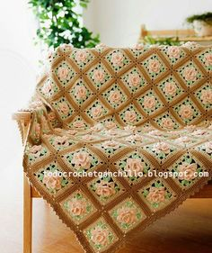 Padrões florais Grannys Blanket / Crochet   Todos crochet