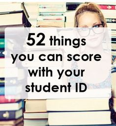 52 things you can score with your student ID