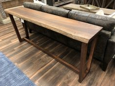 Guanacaste wood cut in single slab with live edge Live Edge Console Table, Live Edge Table, Wooden Console Table, Console Tables, Wood Slab Table, Log Table, Live Edge Furniture, Living Furniture, Plywood Furniture