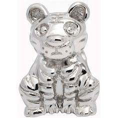 De Buman Sterling Silver Tiger Charm Bead ($16) ❤ liked on Polyvore featuring jewelry, pendants, silver, sterling silver charms, bead jewellery, sterling silver jewelry, sterling silver bead jewelry and sterling silver charms pendants