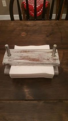 Napkin Holder - Wood Napkin Holder - Vintage Napkin Holder - Shabby Chic Napkin…