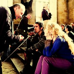 behind the scenes #Matthew #Lewis and #Evanna #Lynch