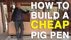 How to Build a Pig Pen out of Pallets - YouTube