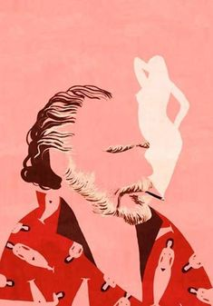 """""""La eternidad estaba en aquellos ojos"""". Charles  Bukowski - Ilustración de Emiliano Ponzi"""