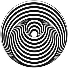 """Vertigo"" Records Label logo inspired to a work of Bridget Riley (Art-Designer, painter of Op-Art), made of 1963 Art Optical, Optical Illusions, Optical Illusion Art, Bridget Riley Op Art, Opt Art, Fractal, Kinetic Art, 3d Drawings, Art Graphique"