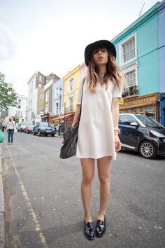 fashiontoast   07/06/2011 portobello road ba&sh dress, Russell & Bromley flats, Rag & Bone hat, Michael Kors watch, Marco Tagliaferri bag.
