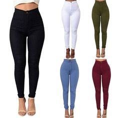 Woman's Slim High Wasted Bodycon Pants | Best Cheap White Pants