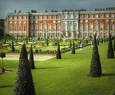 Hampton Court Palace -- one of many gardens.