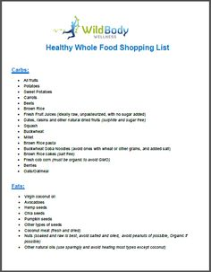 Whole 30 Shopping List | Gift #1 – Healthy Whole Foods Shopping List - A comprehensive list ...