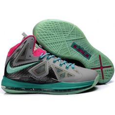 wholesale dealer a049f 52393 Nike Lebron 10 Grey Black Blue G07017