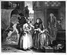 A Harlot's Progress Plate I, The Arrival of the Harlot in London, 1732