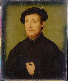Portrait of a Man with His Hand on His Chest. Att Corneille de Lyon