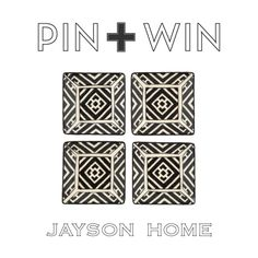 "Jayson Home Pin + Win Contest. Enter for your chance to win this set of Moroccan Appetizer Plates.    How to enter:  1. Go to www.pinterest.com/jaysonhome and follow all Jayson Home boards by clicking ""Follow All.""  2. Repin this product from the ""w i n n i n g !"" board from the Jayson Home Pinterest page.    Contest ends at 4:00 pm CT on June 14, 2012. For more information visit…"