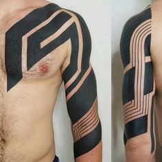 My geometric blackwork sleeve is getting closer to completion! By Ben Volt, Form8 Tattoo, San Francisco, CA - Imgur