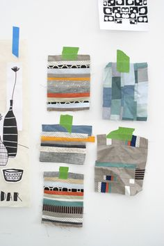 lotta jansdotter's scrap fabric potholders