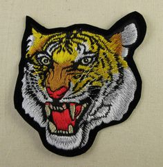 TIGER Embroidered Iron Sew On Patch in Collectables, Badges/ Patches, Patches | eBay