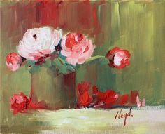 Red Petals on the Table -Diane Lloyd