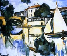 The Poissy Bridge, Maurice de Vlaminck