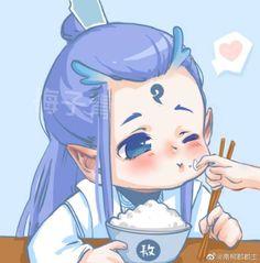 Jiang Shi, Chinese Cartoon, Cartoon Painting, New Gods, Avatar Couple, Chinese Art, Chibi, Childhood, Cute