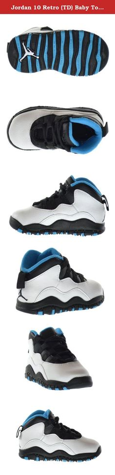 Jordan 10 Retro (TD) Baby Toddlers Basketball Shoes White/Dark Powder Blue-